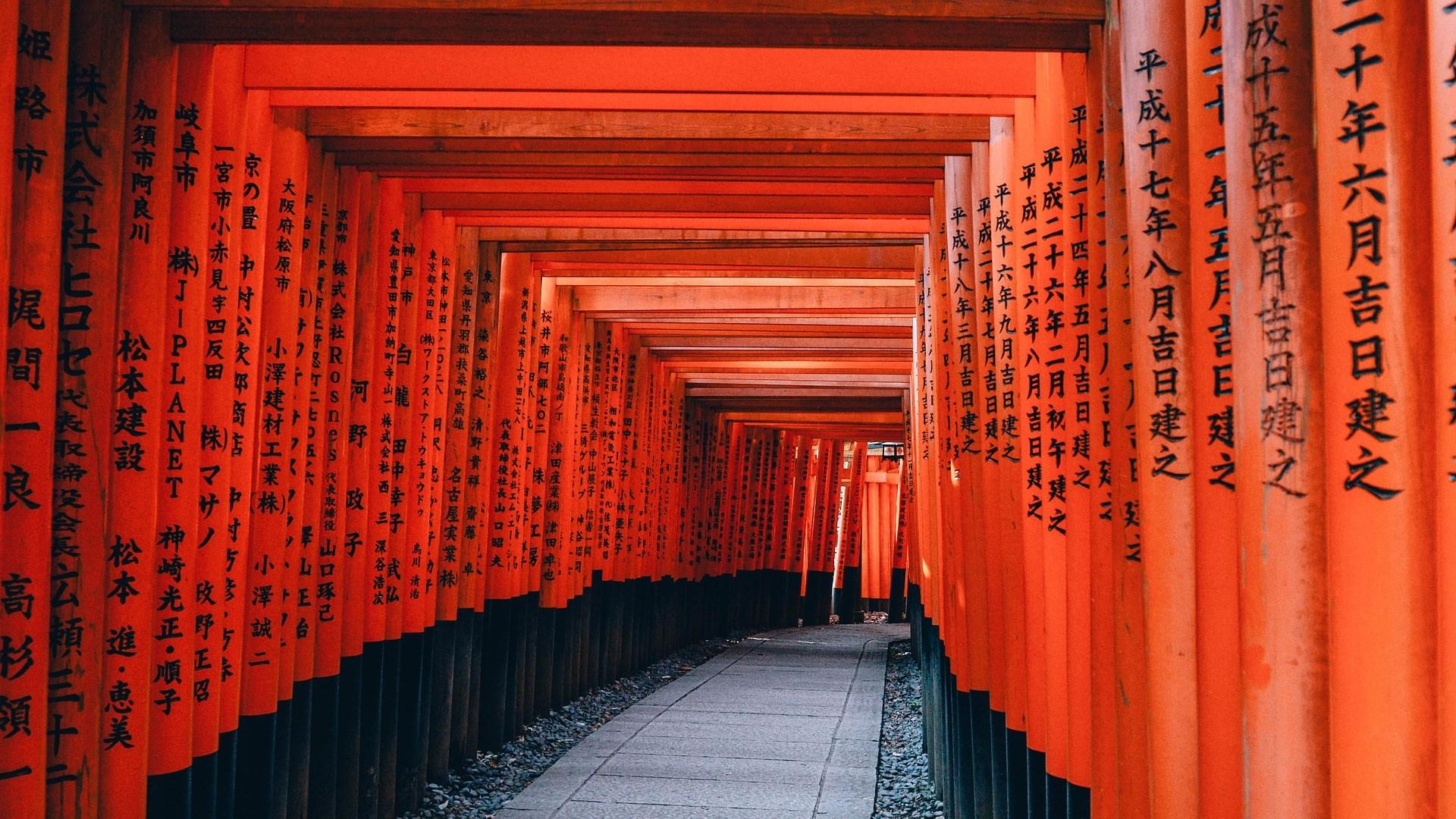 Kyoto Pfad Japan